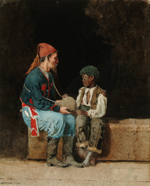 Winslow Homer, Contraband (1875), Watercolor over graphite on wove paper, Arkell Museum at Canajoharie, Gift of Bartlett Arkell, 1937