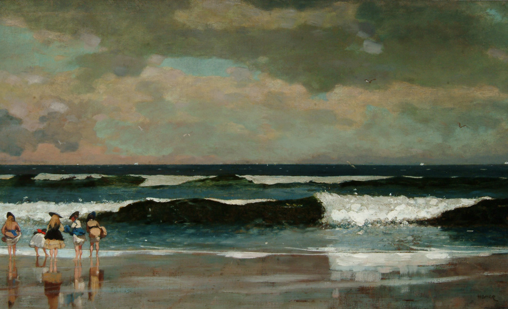 Winslow Homer, On the Beach (ca. 1869), Oil on canvas, Arkell Museum at Canajoharie, Gift of Bartlett Arkell, 1932