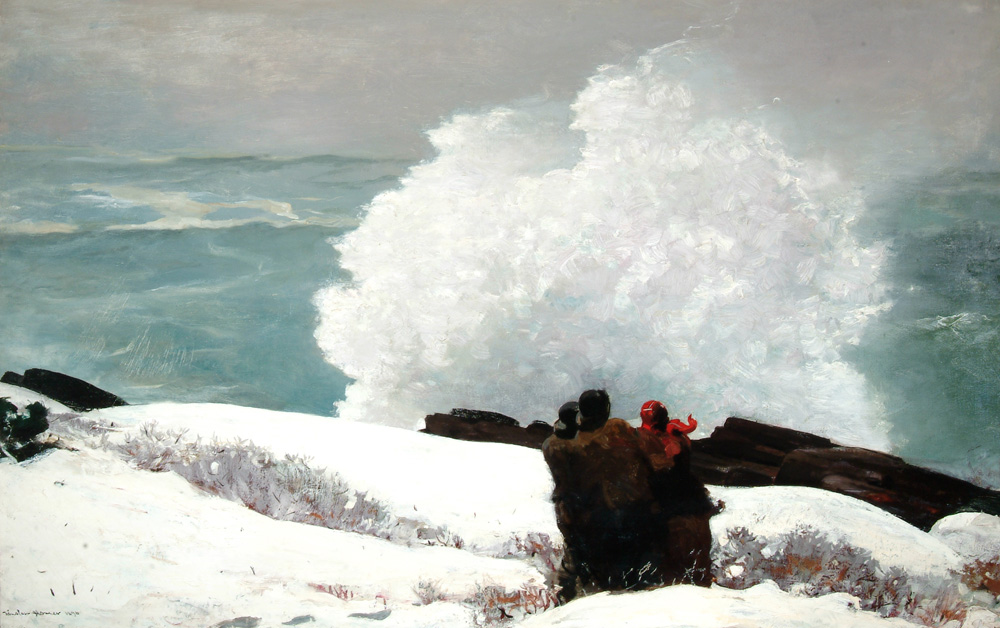 Winslow Homer, Watching the Breakers: A High Sea (1896), Oil on canvas,  Arkell Museum at Canajoharie, Gift of Bartlett Arkell, 1935