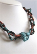 Twisted Turquoise Necklace by jewelry designer, Patricia Khalaf.