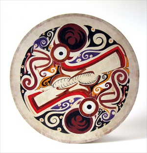 Deer God Drum based on a Belize Tapestry