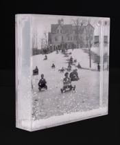 Snowy Paperweight-Sledding at the Orphanage