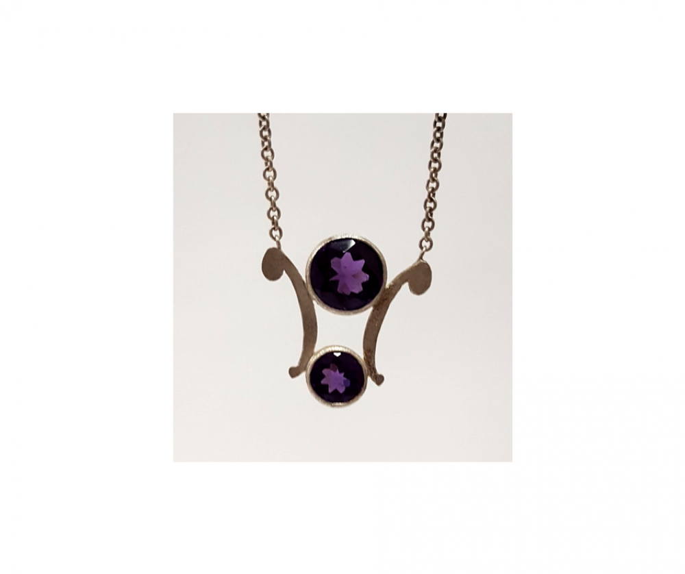pendant jewellery jewelry amethyst drop necklace cushion product designs