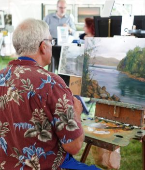 Artists show off their skills at Art by the Lake.