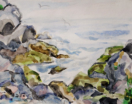 On Land and Sea: Central NY and Monhegan Island, ME by Deborah Beck